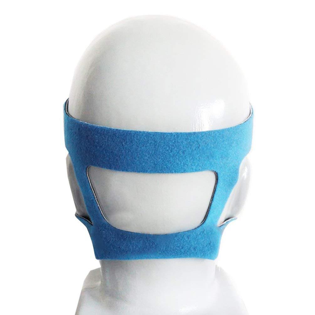 Yogatada Fascia Copricapo Comfort Gel Full Mask Sicuro di Ricambio Ambientale Cpap Head Band Grey /& Blue