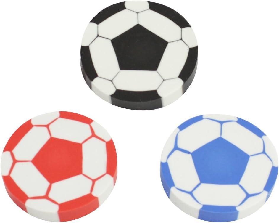 com-four/® 15x Radiergummi Fu/ßball ideal als Mitgebsel oder f/ür die Schult/üte 4,5 cm