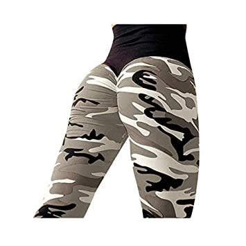 a9cb07bcaf9e1 Clearance Sale! Charberry Womens Pleated Camouflage Yoga Pants Fashion  Workout Leggings Fitness Sports Running Athletic