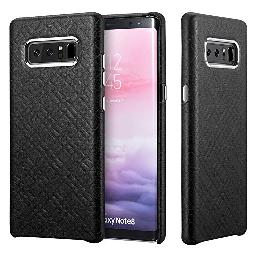 Galaxy Note 8 Leather Case,Icarercase Ultra Slim Genuine Vintage Leather Protective Embossed Back Cover for Samsung Note8 6.3 Inch