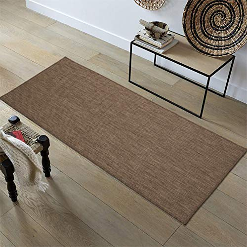 Ottomanson JRD8708-2X5 Jardin Collection Runner Rug, 2' x 5', Dark Brown