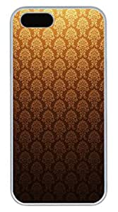 iPhone 5S Case, iPhone 5 Cover, iPhone 5S Golden Vintage Hard White Cases