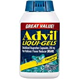 Advil Liqui-Gels (200 Count) Pain Reliever/Fever Reducer Liquid Filled Capsule, 200mg Ibuprofen, Temporary Pain Relief