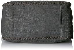 STEVEN by Steve Madden Bree Shoulder Handbag,Slate