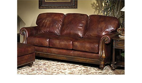 Amazon.com: Bradington-Young 703 - CL Sheffield Leather Sofa ...