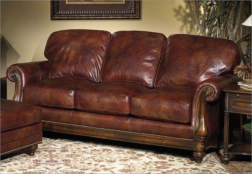 Amazon.com: Bradington-Young 703 - CL Sheffield Leather Sofa ...