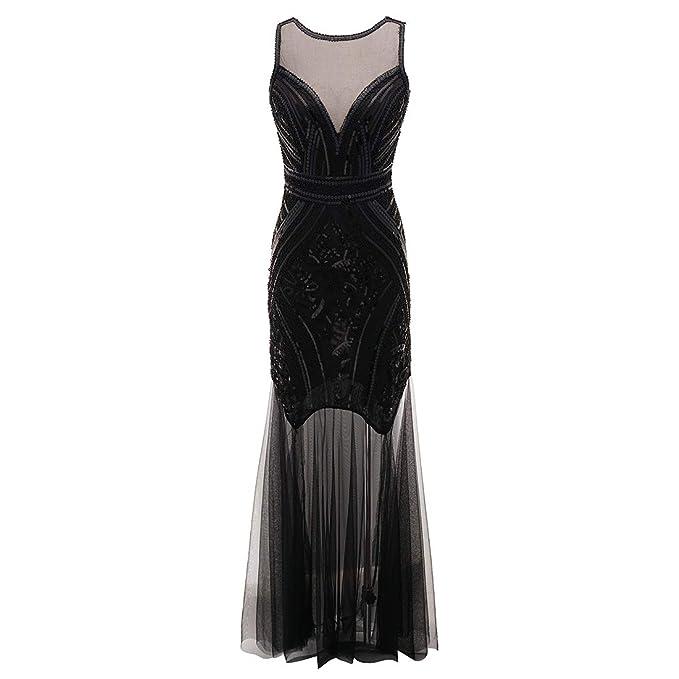 8df7cfb125 Ez-sofei Women s Vintage 1920s Sequined Flapper Long Maxi Evening Dresses   Amazon.ca  Clothing   Accessories