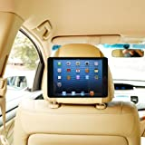 TFY Car Headrest Mount Holder for iPad Mini & iPad Mini 2, Fast-Attach Fast-Release Edition, Beige
