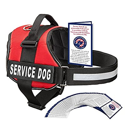 Service Dog Harness With Hook and Loop Straps and Handle | Available In 7 Sizes From Extra Small to Extra Large | Vest Features Reflective Patch and Comfortable Mesh Design From Industrial Puppy