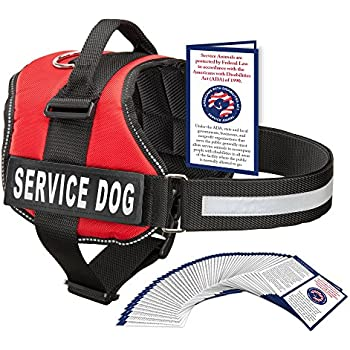 Service Dog Harness With Hook and Loop Straps and Handle | Available In 7 Sizes From XXS to XXL | Vest Features Reflective Patch and Comfortable Mesh Design