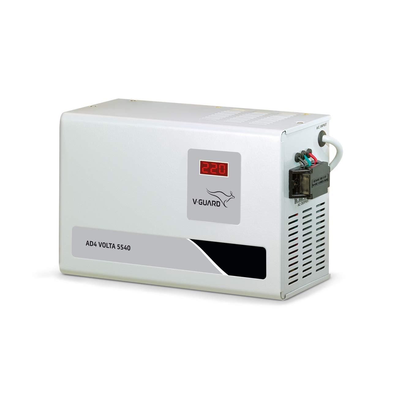 V-Guard Metal AC Stabilizer AD4 Volta 5540 Working Range