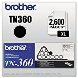 brother 2140 - Brother Genuine High Yield Toner Cartridge, TN360, Replacement Black Toner, Page Yield Up To 2,600 Pages
