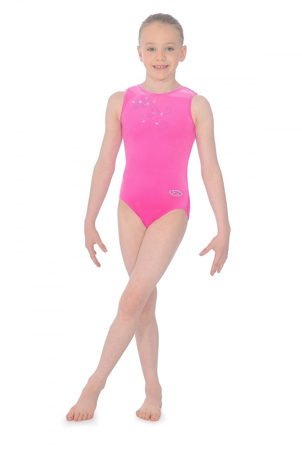 The Zone Butterfly Crystal Motif Smooth Velour Leotard