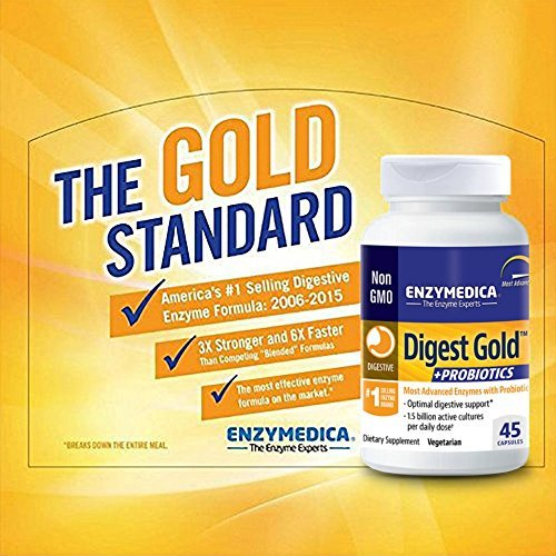 Enzymedica - Digest Gold + Probiotics, Advanced Digestive Enzymes + Probiotics for Essential Digest Care, 180 Capsules (FFP) by Enzymedica (Image #9)