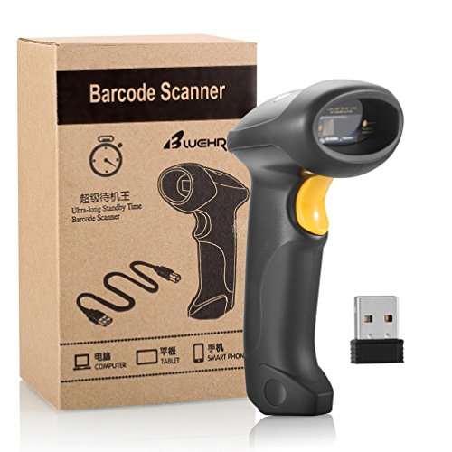 BLUEHRESY CT007X (2.4GHz Wireless USB Automatic & USB2.0 Wired) Rechargeable 1D Barcode Scanner Handheld Bar-code