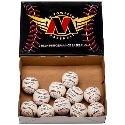 Image of Baseballs Mpowered Baseball Premium Leather 7.5-Inch Small Skill Development Practice Baseballs (Pack of 120)
