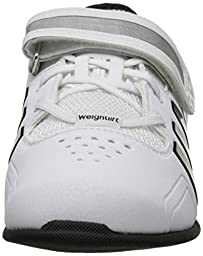 adidas Performance Adipower Weightlifting Trainer Shoe,White/Black/Tech Grey,15 M US