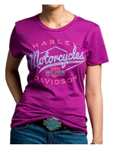 Harley-Davidson Women's Twisted Drifter Short Sleeve Crew Tee 5J27-HC9T (XL)