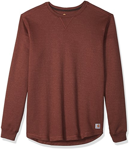 Carhartt Men's Tilden Long Sleeve Crewneck, Sable, 2X-Large