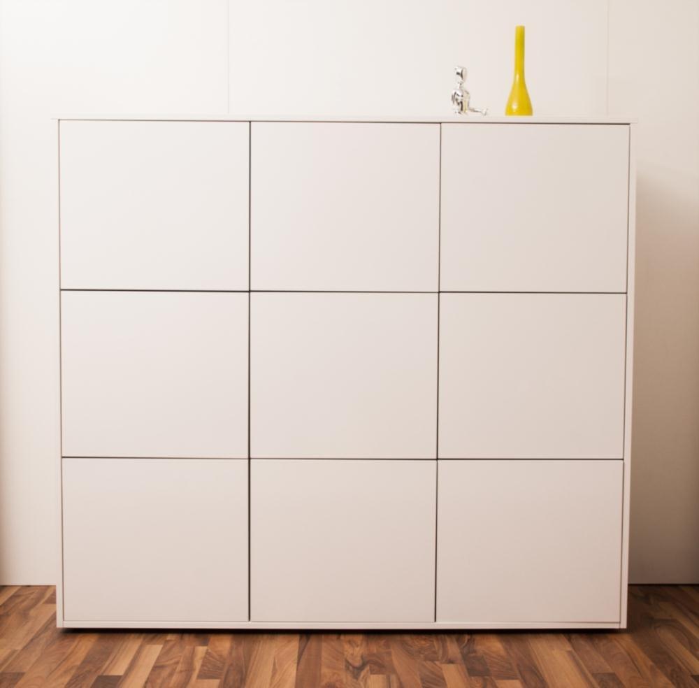 SimO H1492 B1605 T400mm Schrank Weiß hochglanz - weiß, 9 Türen B516mm