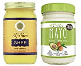 Paleo Approved Avocado Oil Mayo and Grass-Fed 100% Organic Ancient Organic Ghee (16oz)