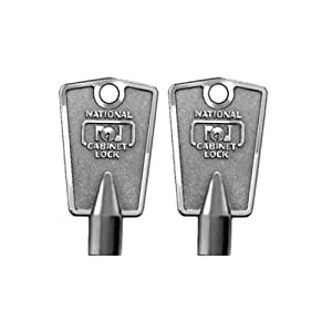 Compx National D8590 Metal Freezer Key compatible with Frigidaire (2-Pack)