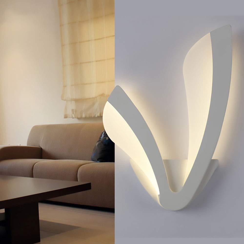 Gelb Warm LED Moderne Acryl Wandleuchte Einfache Wohnzimmer Schlafzimmer Nacht Hotelzimmer Gang Balkon Dekorative Wandleuchte Beleuchten Sie Ihr Zuhause (Farbe   Weiß)