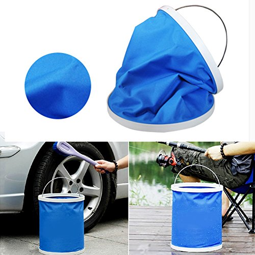 Horse Buckets Heated (Collapsible Water Bucket for Fishing Car Washing Lightweight Portable Garden Bucket for Travel House Cleaning 10.62 x 9.64 IN by Cozzy)