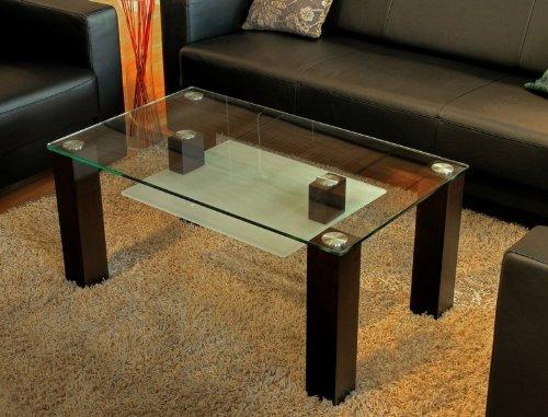 Endo mesa (100 cm Chapa de madera auténtica Salón Mesa sofá mesa ...