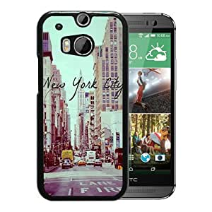 Fashionable And Unique Designed Case For HTC ONE M8 Phone Case With Vintage New York City Black