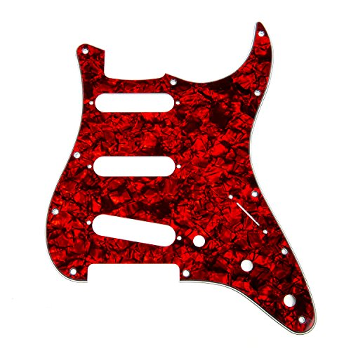 Pearl Red Guitar - D'Andrea Strat Pickguards for Electric Guitar, Red Pearl