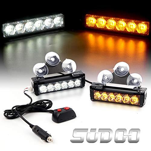 2 X 6 LED Emergency Strobe Light Bar - 6.5