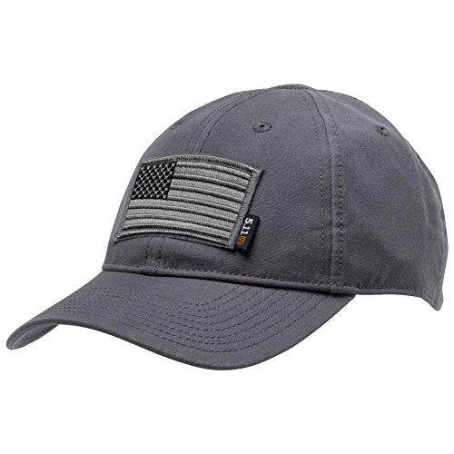 (Gadsden and Culpeper 5.11 Flag Bearer Cap Bundle - Storm (USA Patch + Hat))
