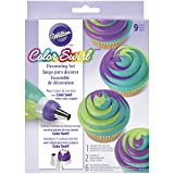 Wilton Color Swirl, 3-Color Piping Bag Coupler, 9pc Cake Decorating Kit