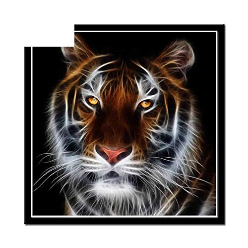 5D Diamond Painting Full Round Rhinestone Cartoon Tiger Mosaic Embroidered Embroidery Needlework Sewing New Arrivals Paints with Home Decor ()