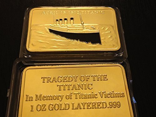 Lot of Two - 1912 RMS Titanic Tragedy Gold Bar (Bar 1912)
