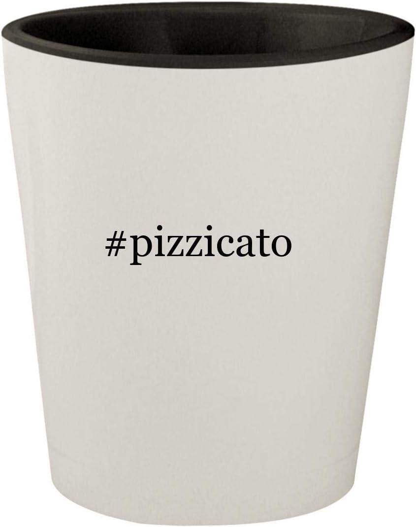 #pizzicato - White Outer & Black Inner Hashtag Ceramic 1.5oz Shot Glass