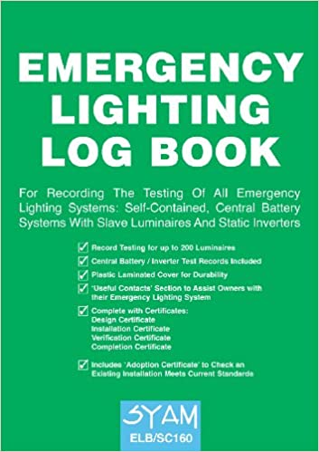 Emergency Lighting Log Book Amazon Syam Books