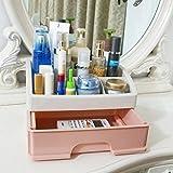 Zzaini Acrylic Makeup Organizers, Stackable Multi-function With Drawers Storage Box Desk Supplies-U 27.5x19.5x17cm