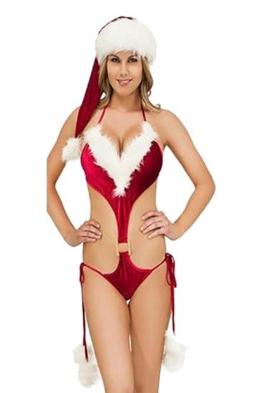 Mujeres Navidad Sujetadores Ropa Interior Tanga Cosplay Sexy Sombrero: Amazon.es: Ropa y accesorios