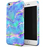 Glitbit Mermaid Paua Abalone Sea Shell Haliotis Iris Holographic Iridescent Mother Of Pearl Opal Cotton Candy Thin Design Durable Hard Shell Plastic Protective Case For Apple iPhone 6 / 6s