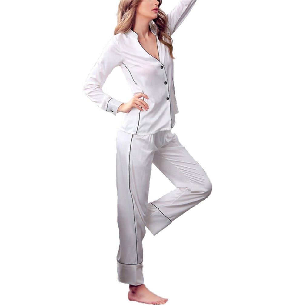 Sexy Womens DeepHomewear Set Fashion Korean Style Fashionable Ladies Nightwear Pijamas Set Faux White Set XL at Amazon Womens Clothing store:
