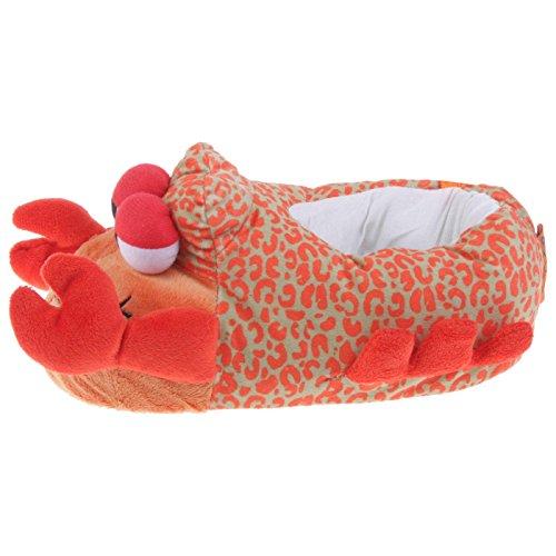 Tierhausschuhe Krabbe Tier Hausschuhe Pantoffel Puschen Schlappen Kuscheltier Plüsch Damen Kinder Rot 29-35, TH-Krabbe Rot