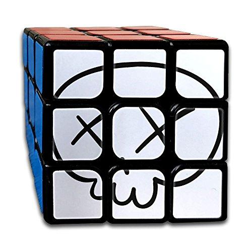 Halloween Skull 3x3x3 Cube Puzzle, Speed Cube, The Best, Carbon Fiber Sticker Smooth Magic Cube (Halloween Costume Rubik's Cube)