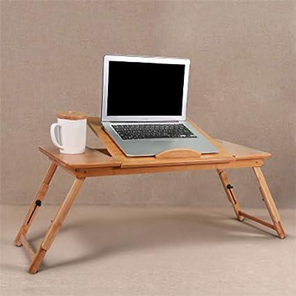 Asbjxny Pieghevole per Computer Portatile Scrivania con Ruote Mobili per Ufficio Domestico con 3 cassetti Nuovi banchi di Lavoro Moderni@B