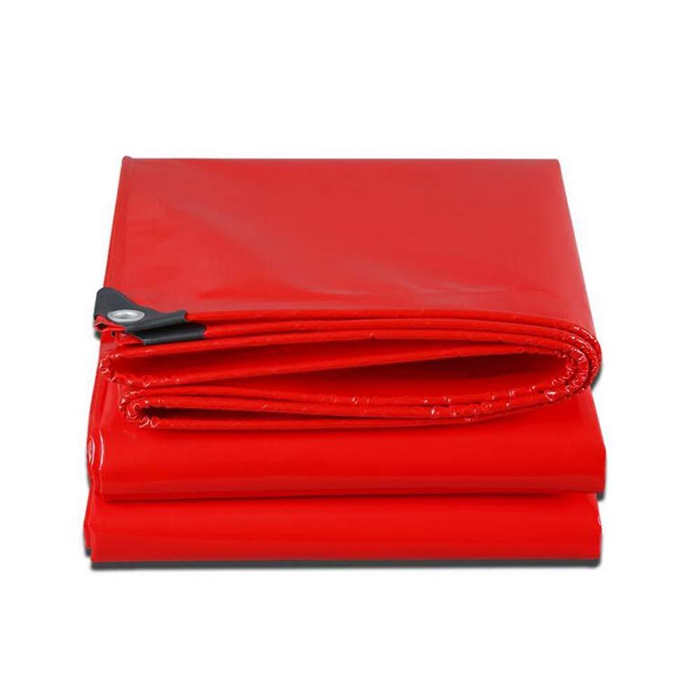 Dall telone di Spessore Telone Prova di Pioggia Protezione Solare Grande Camion Panno di Pioggia (colore   Red, Dimensioni   3  5m)