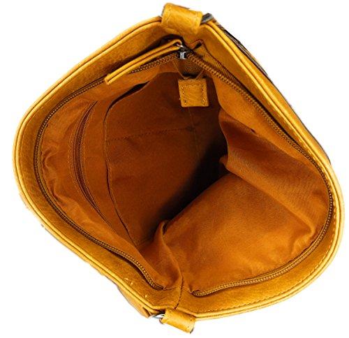 Bag Zippered Faux Pocket Long Crossbody Strap Trendy Brown Purse Camel Multi Messenger Leather Side I8qgwC6