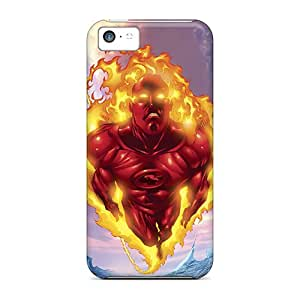 Anti-scratch And Shatterproof Human Torch I4 Phone Cases For Iphone 5c/ High Quality Cases