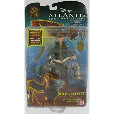 Atlantis the Lost Empire Milo Thatch With Sparking Backpack Generator: Toy Figures: Clothing