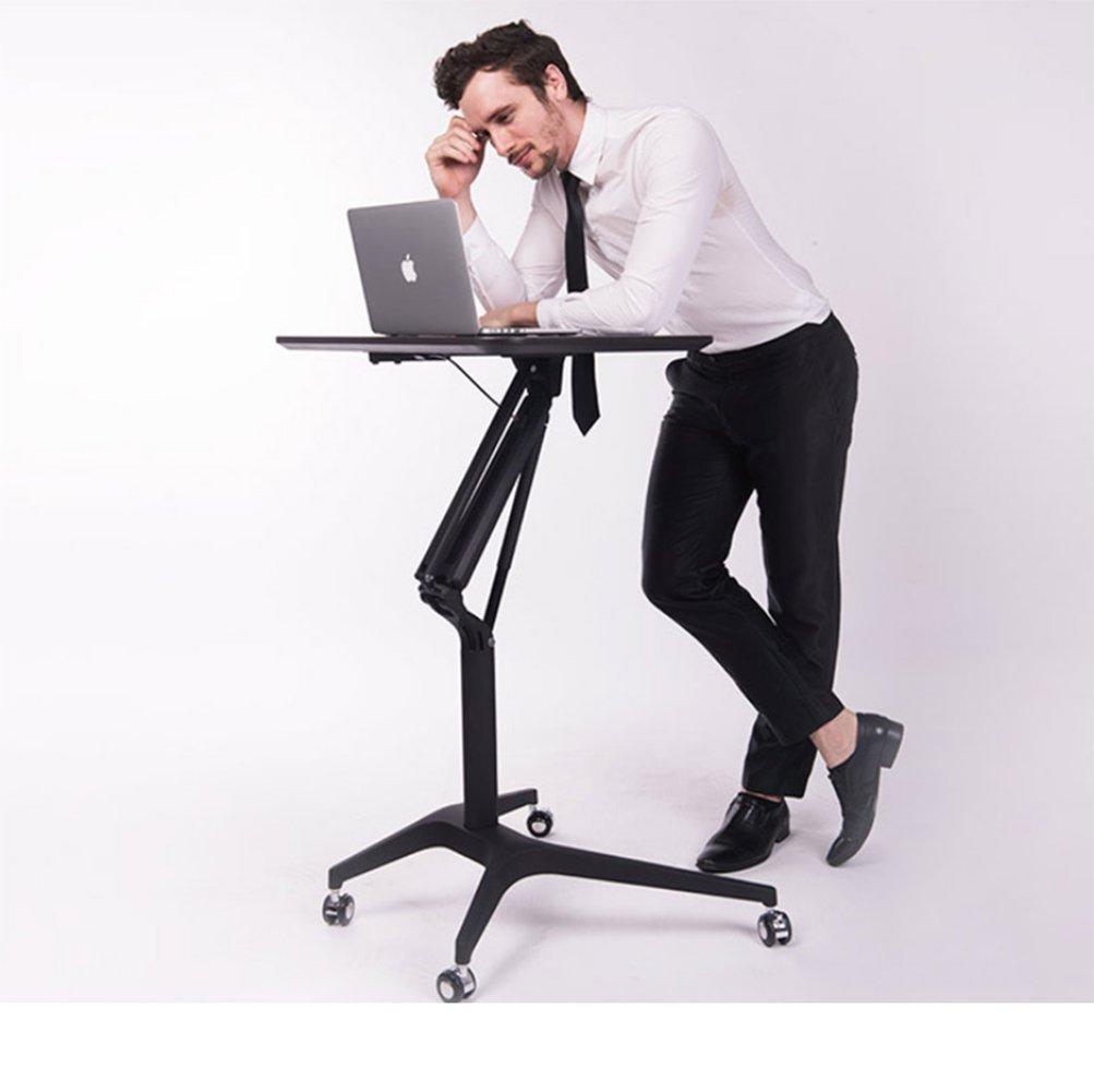 M & Z stand-upオフィスコンピュータ机LazyベッドLifting Tableラップトップコンピュータテーブルモバイル音声テーブル、ブラック   B07F5FY4G2